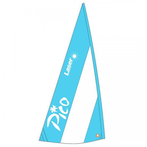 Großsegel PICO Standard, Dacron, blau/weiß