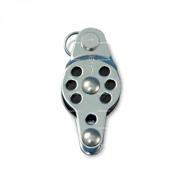 Block HARKEN einfach mit Gabelkopf/Hundsfott, 25mm